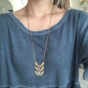 NWT J.Crew Long Gold Necklace